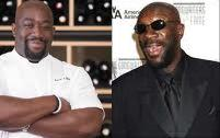 side-by-side of Kenny Gilbert and Isaac Hayes